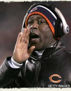 "Lovie says ""You're FIRED!"""